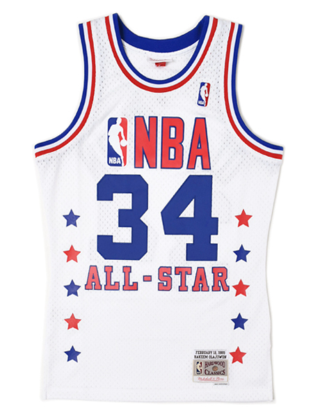 【送料無料】MITCHELL & NESS SWINGMAN JERSEY ALL-STAR WEST 89 #34 H.O【BA84JRASWWC0A-WHITE】
