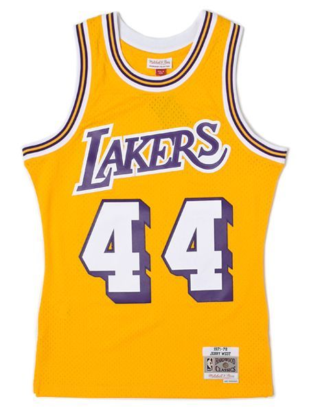 【送料無料】MITCHELL & NESS SWINGMAN JERSEY LAKERS 1971-72 #44 J.W【BA84QPLALDC6Y-YELLOW】
