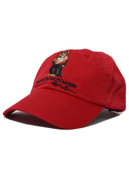 POLO RALPH LAUREN CHINO CAP TUXEDO UNDER WET SUIT BEAR【710706538001-D-RED】