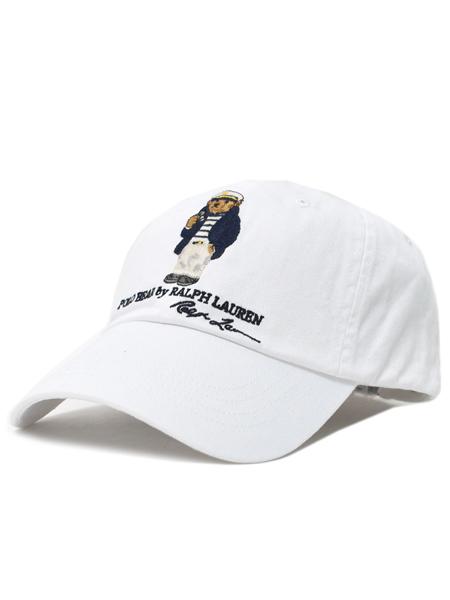 POLO RALPH LAUREN CHINO CAP CAPTAIN BEAR【710706538002-D-WHITE】
