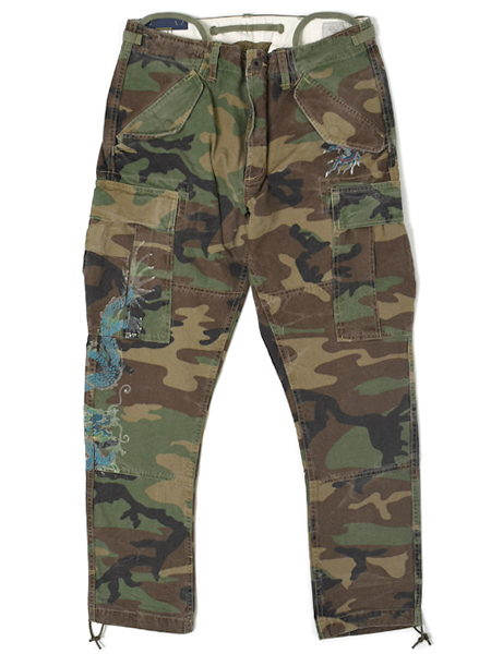【送料無料】POLO RALPH LAUREN SLIM FIT MODERN M43 CARGO PANT GRAPHIC【710671176001A-D-WOODLAND CAMO】