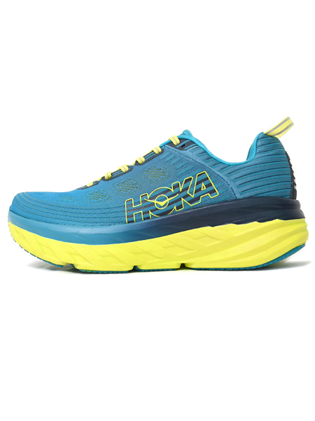 【送料無料】HOKA ONE ONE BONDI 6 CARRIBEAN SEA/STORM BLUE【1019269-CSSB-TEAL】