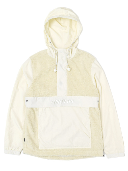 【SALE】【送料無料】FAIRPLAY DEZI NYLON SHERPA HOODED ANORAK JACKET【F1805011-CRM-CREAM】