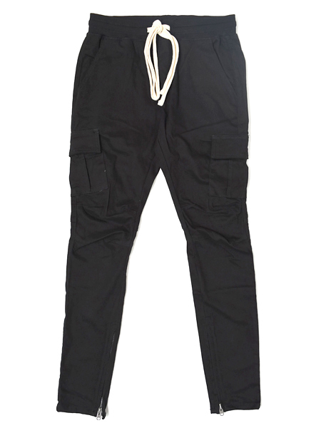 【送料無料】mnml CARGO DRAWCORD PANTS【18ML-AW301P-BK-BLACK】