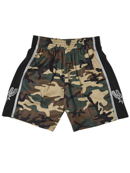 【送料無料】MITCHELL & NESS WLD CAMO SWINGMAN SHORT SPURS 98-99【SASNG18332198-WOODLAND CAMO】