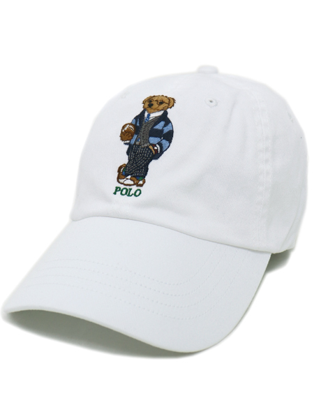 POLO RALPH LAUREN PREPPY BEAR CHINO CAP【710780290001-D-WHITE】