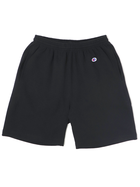 CHAMPION USA 9oz TERRY FLEECE SHORTS【C5-R501-090-BLACK】
