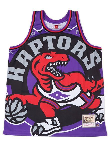 【送料無料】MITCHELL & NESS BIG FACE JERSEY-TORONTO RAPTORS【MSTKBW19068TRAP-PURPLE】