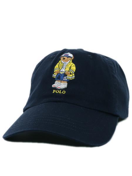 POLO RALPH LAUREN POLO BEAR CP-93 BEAR CHINO BALL CAP【710790285002-D-NAVY】