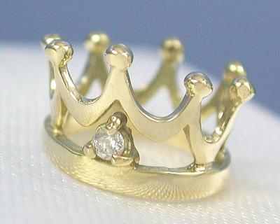 4月 誕生石 出産祝い 記念 メモリアル お祝い ギフト 国内正規品 内祝い 誕生日 18k ベビーリング タイプ 18金 ダイヤモンド プレゼント K18 出荷 クラウン ゴールド プリンス