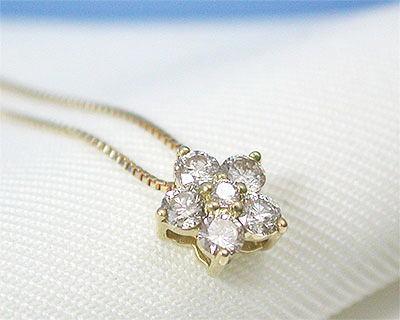 K18 ダイヤモンド プチネックレス 【送料無料】【smtb-TD】【saitama】【プレゼント ギフト】▼
