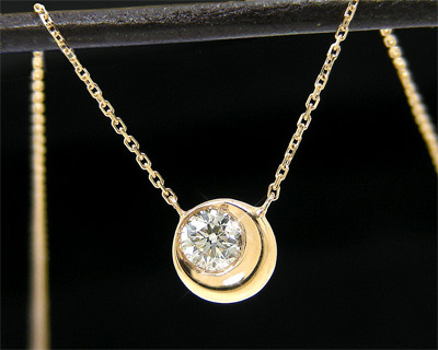 ダイヤモンド ムーン ネックレス K10YG 【送料無料】【smtb-TD】【saitama】【プレゼント ギフト】▼