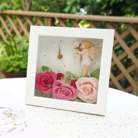 薔薇の妖精時計 フラワーフェアリーズ 花の妖精たち ローズフェアリー プリザーブドフラワー 薔薇の妖精