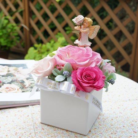 ローズフェアリーアレンジ フラワーフェアリーズ バラの妖精 ダイヤモンドローズ プリザーブドフラワー
