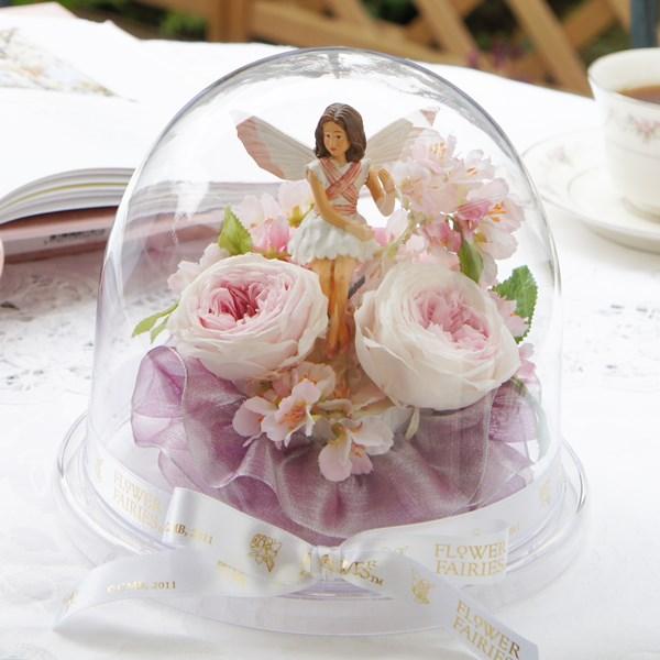 野ざくらの妖精のアレンジ プリザーブドフラワー フラワーフェアリーズ 花の妖精 野ざくら ピンク