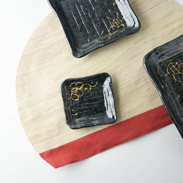 夜華 削り 9.5x9.5cm 角皿 日本製 美濃焼 和食器 生活雑貨 キッチン 食器 完全送料無料 お皿 皿 小皿 器 現代風アレンジ メイルオーダー TOKAI-YAKI 東海焼き 日本 東海焼