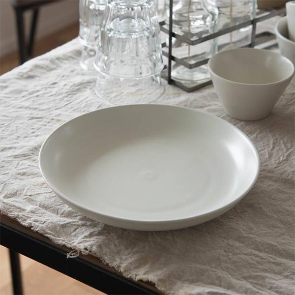 小田陶器 安い MINORe みのり 23x23cm プレートL 日本製 美濃焼 洋食器 生活雑貨 キッチン 食器 皿 日本 現代風アレンジ お皿 中皿 至上 オリーブ 東海焼 クリーム 器 TOKAI-YAKI 大皿 東海焼き