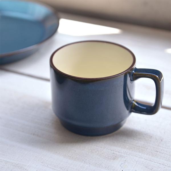 北欧ブルー 至上 スタッキング 毎週更新 マグカップ 11.5x8.5cm 日本製 美濃焼 洋食器 生活雑貨 キッチン 食器 お皿 東海焼き ブルー 日本 東海焼 現代風アレンジ 北欧 TOKAI-YAKI 器