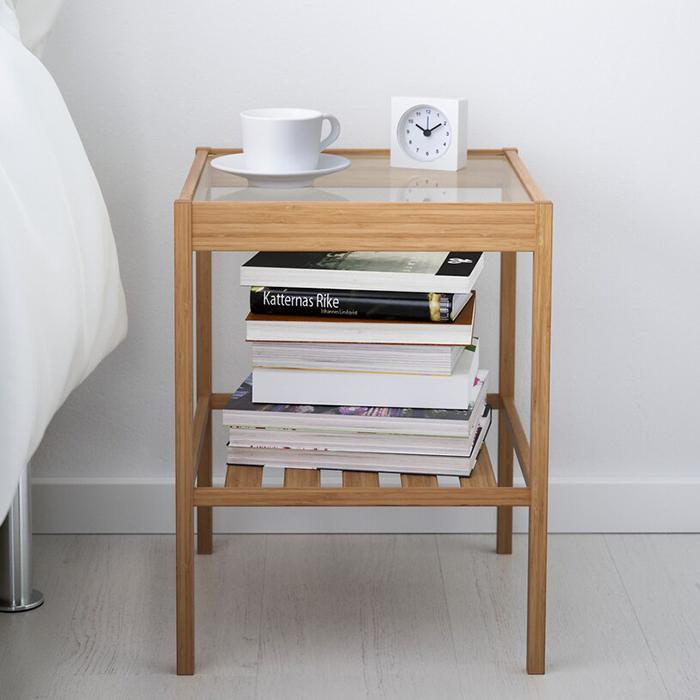 サイドテーブル 送料無料 IKEA 低廉 イケア お洒落 ナイトテーブル NESNA ベッド ネスナ 36x35 cm 20247128 寝室 カフェ かわいい おしゃれ デスク 収納棚 机 コーヒーテーブル ソファ ベッドルーム ガラス 北欧 収納付き