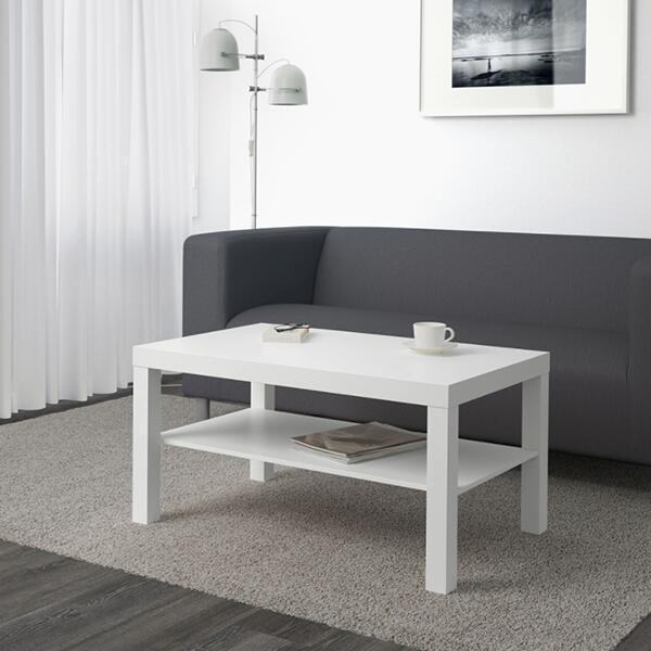 コーヒーテーブル 送料無料 IKEA イケア ナイトテーブル ローテーブル LACK ラック センターテーブル 90x55 cm 70449906 リビングルーム 寝室 価格 交渉 送料無料 ベッドルーム 北欧 デスク 期間限定特別価格 収納付き おしゃれ ホワイト ベッド ソファ 木製 白 机 かわいい シンプル サイドテーブル カフェ