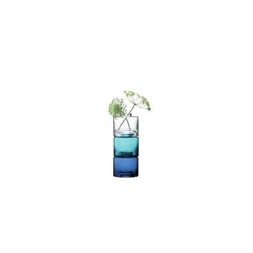 LSA International STACK[スタック] クリア・ブルー・ブルーフラワーベース 花瓶 ガラス 高さ30cm※メーカー直送のため、お買上げ合計金額にかかわらず別途送料を設定しております。 【メーカー直送品のため、代引き・ラッピング・同梱不可】
