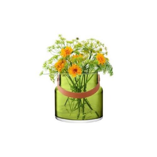 LSA International UTILITY[ユティリティ] フラワーベース 花瓶 オリーブグリーン ガラス 高さ19.5cm※メーカーより直接お届けするため、お買上げ合計金額にかかわらず別途送料を設定しております。【代引・ラッピング・同梱不可】