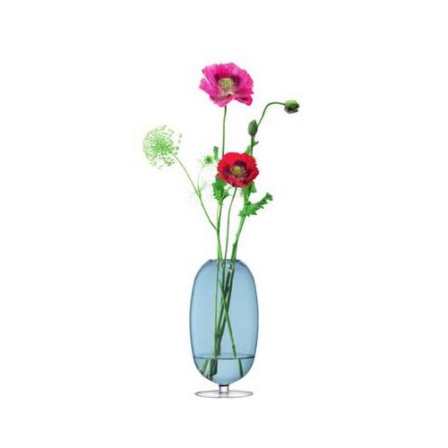 LSA International OLIVIA[オリヴィア] フラワーベース 花瓶 サファイア ガラス 高さ31cm※メーカーより直接お届けするため、お買上げ合計金額にかかわらず別途送料を設定しております。 【メーカー直送品のため、代引き・ラッピング・同梱不可】