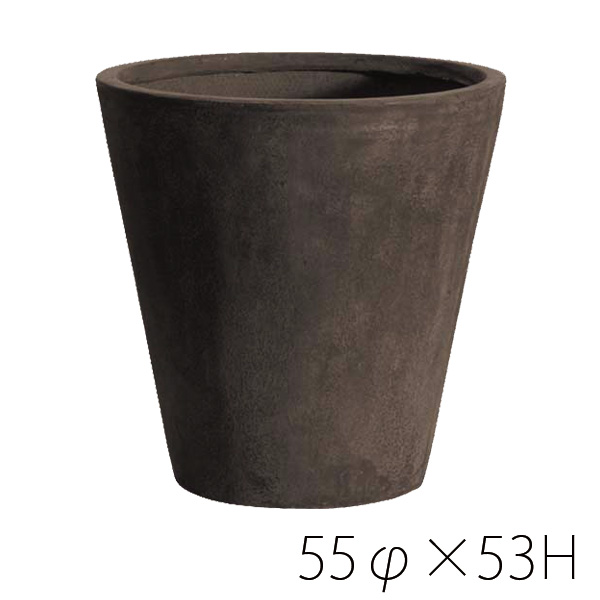 テラコッタのような風合いと 軽さと耐久性のある新素材です 自然な風合いで退色していくのも特徴です 信憑 週末限定クーポンポイントアップ Clay TERRA-MENT テラメント ※代引き terracotta 大人気 鉢 Round 大型 53プランター 同梱不可