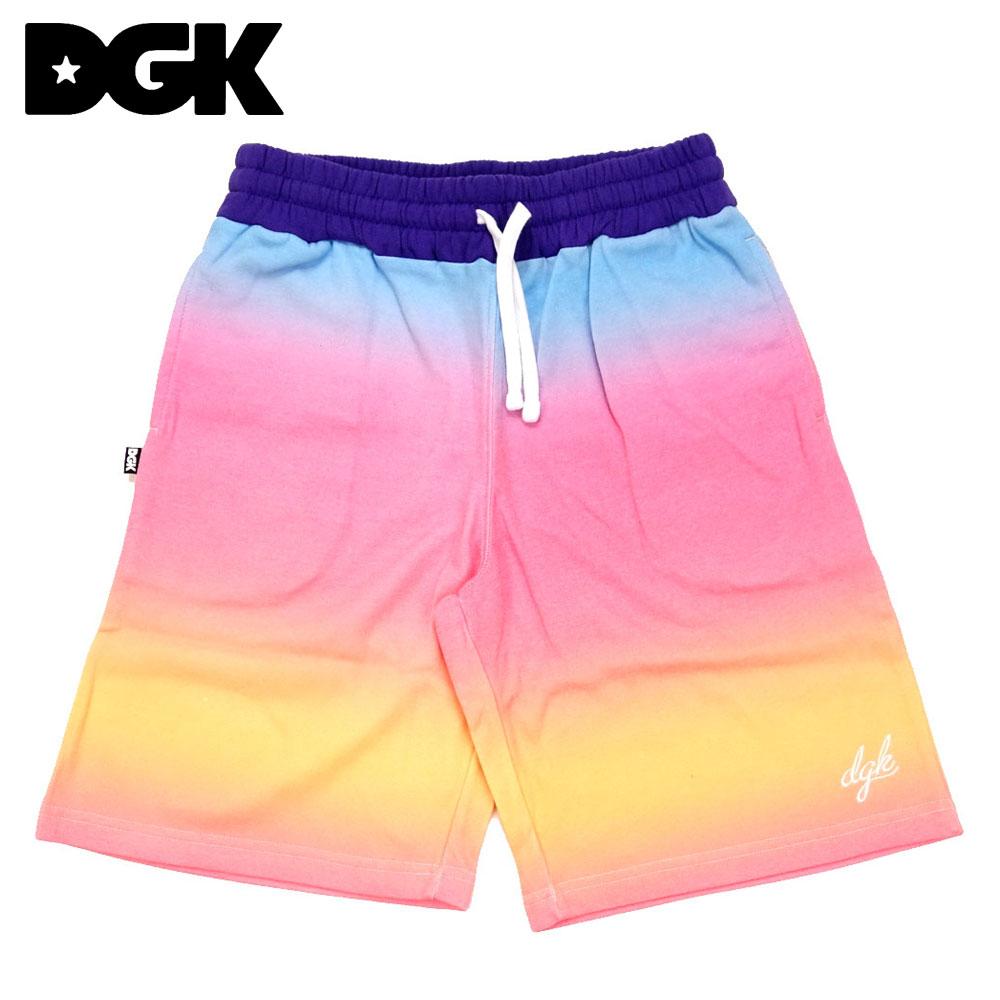 DGK ディージーケー スウェットショーツ ハーフパンツ タイダイ Venice Fleece 定番 Shorts Custom 在庫あり Multi