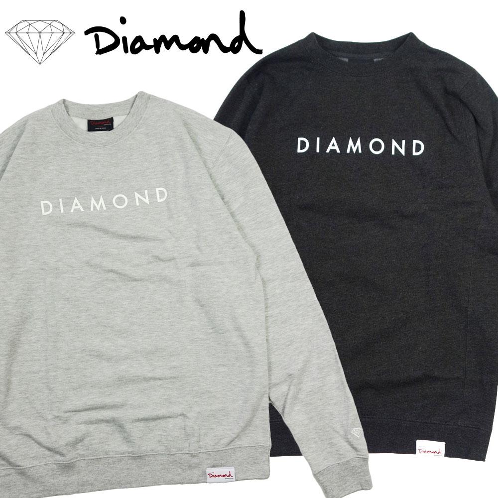 【Diamond SUPPLY CO./ダイヤモンドサプライ】クルースネックウェット トレーナー/CREW NWCK C17DMPE14