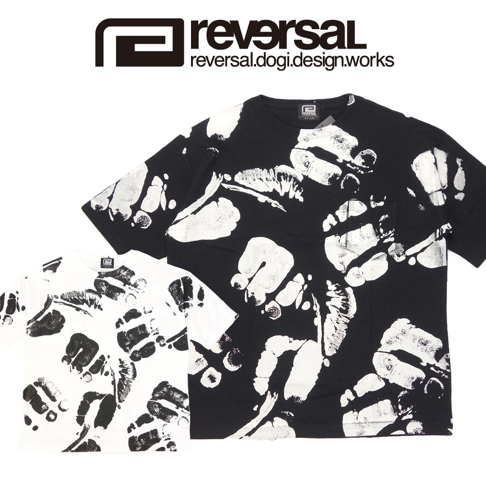 reversal 贈呈 リバーサル 直営店 ビッグシルエット 全面プリント 半袖Tシャツ BIG PORRADA SILHOUETTE TEE