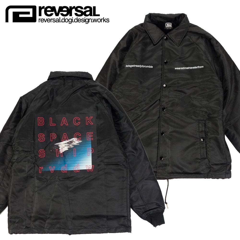 【REVERSAL/リバーサル】裏ボア仕様 コーチジャケット/BLACK SPACESHIP BOA COACH JACKET rv19aw005