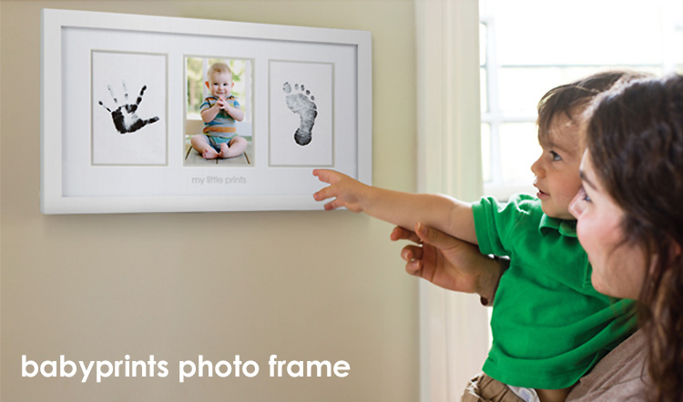 Flaner Baby Pair Head Baby Print Photo Frame White Pearhead
