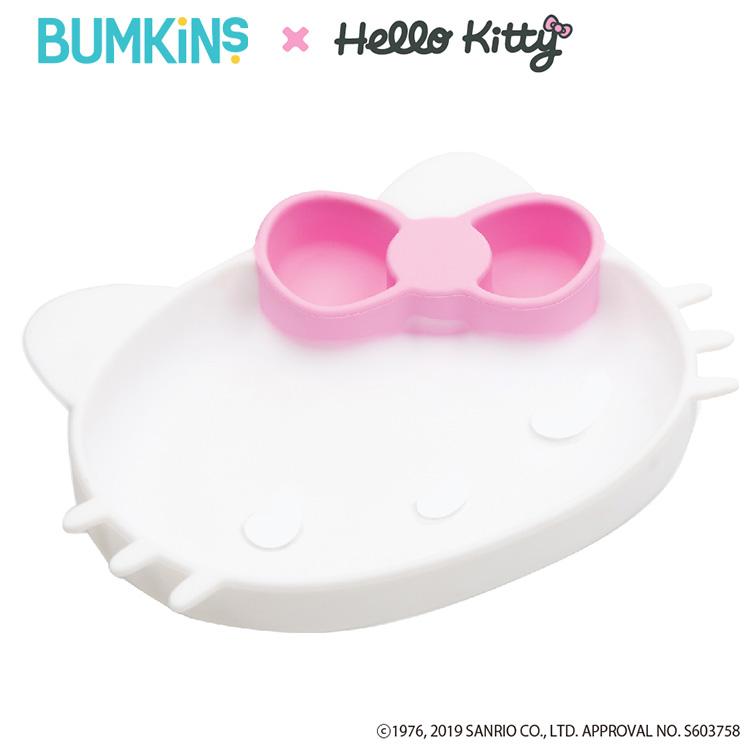 Bumkins GDSHK キティちゃん Hello Kitty 吸盤付き 食器 シリコン プレート ワンプレート ハローキティコラボ 送料無料 出産祝い ひっくりかえらない 評判 吸盤付きシリコンディッシュ バンキンス ギフト 正規販売店 メーカー直送