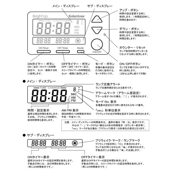 Bright-up clock (alarm clock)