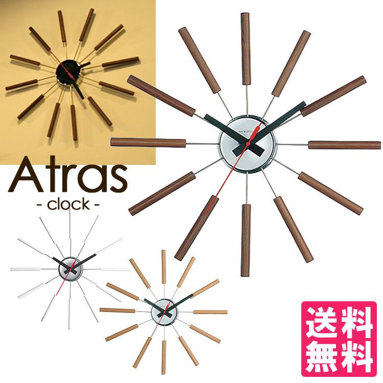 Atras-clock-/アトラスクロック 壁掛け時計 ART WORK STUDIO【送料無料】【ポイント10倍/一部在庫有】【4/18】