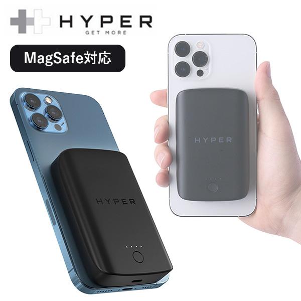 正規販売店 正規品 MagSafe対応iPhoneの背面に装着し快適に充電 最大7.5Wのワイヤレス充電 12W 国内在庫 USB-Cケーブル充電 2台同時充電も可能 メール便送料無料 HyperJuice iPhone12 海外× 5000mAh マグネットワイヤレスモバイルバッテリー 30 9 安売り MagSafe対応 ROA あす楽