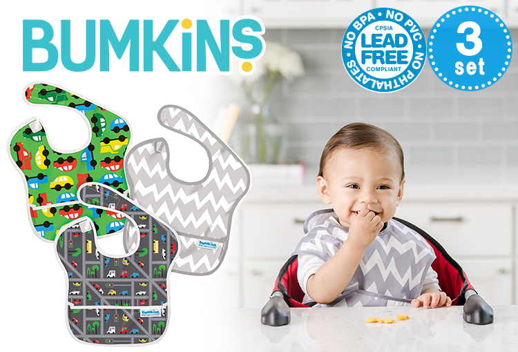 Bumkins Super bib 3 Pack and bankings