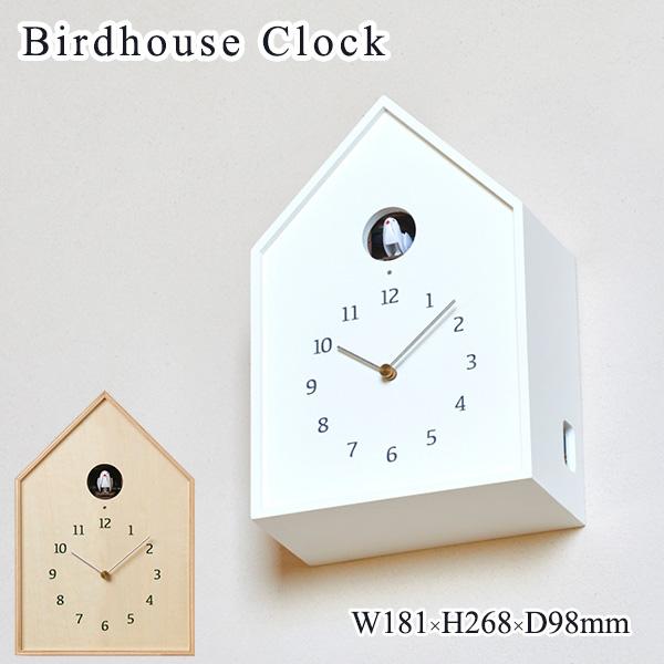 Birdhouse Clock バードハウスクロック NY16-12WH 鳩時計/タカタレムノス【海外×】【送料無料】【ポイント12倍/一部在庫有】【5/7】