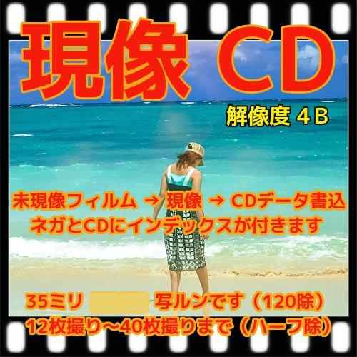 カラーフィルム現像 CD書込データ保存(画像が荒い4B) インデックス 35ミリフィルム、写ルンです レンズ付きフィルム、(APS ハーフは別出品) フジカラー 純正現像液 写真 現像 フィルム ネガ