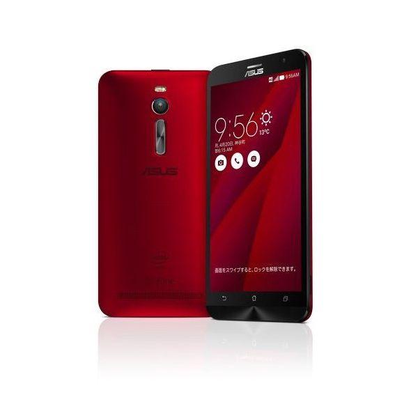 【リファービッシュ品】ASUSTek ZenFone2 ( SIMフリー / Android5.0 / 5.5型ワイド / デュアルmicroSIM / LTE ) (レッド, 2GB/32GB) ZE551ML-RD32