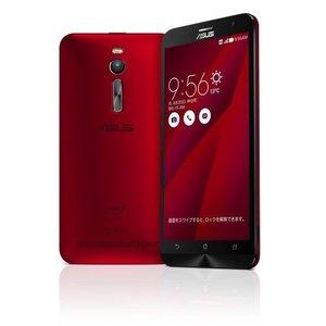 【リファービッシュ品】ASUSTek( SIMフリー / Android5.0 / 5.5型ワイド / デュアルmicroSIM / LTE ) ZenFone2 (レッド, 4GB/32GB)