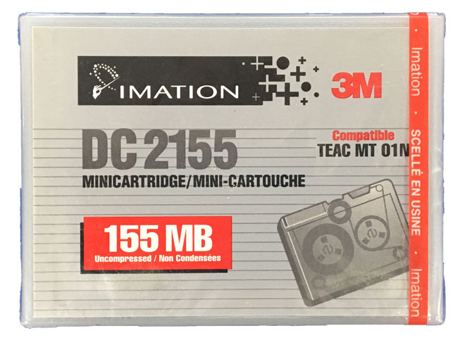【アウトレット】 IMATION (3M) QIC 1/4インチ mini データカートリッジ 155MB DC2155 D