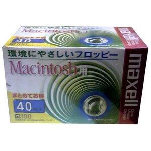 【生産終了品・送料無料】 マクセル 3.5インチ 2HD フロッピーディスク Macintosh用フォーマット済 40枚パック MFHDMAC.C40K