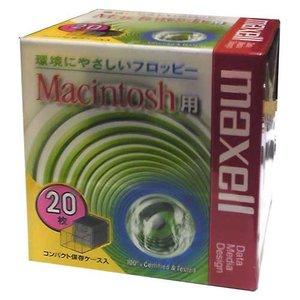 【生産終了品・在庫限り☆送料無料】 マクセル 3.5インチ 2HD フロッピーディスク Macintosh用フォーマット済 20枚パック MFHDMAC.C20P