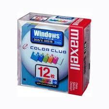 マクセル 3.5型フロッピーディスク Windows/MS-DOSフォーマット済み 12枚 6色カラーミックス MFHD18CC.12P