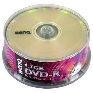 【アウトレット】 超お買得まとめ買い20パックセット BENQ データ用DVD-R 2倍速25枚