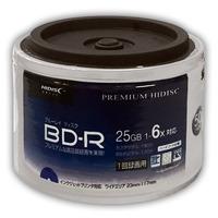 *6個セット・お買い得*HIDISC BD-R 1回録画 6倍速 25GB 50枚*6パック