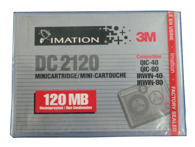 【アウトレット】 IMATION (3M) QIC 1/4インチ mini データカートリッジ 120MB DC2120P