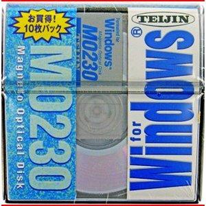 【アウトレット】在庫限り!TEIJIN 3.5インチ MOディスク (光磁気ディスク) 230MB 10枚パック Windows/DOSフォーマット済